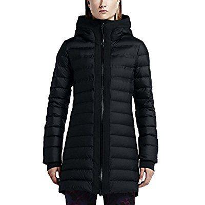 6aaf8bc3 Nike Women's Tech Fleece Aeroloft Parka Hooded Jacket-Black-Medium ...