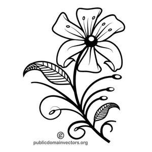 PublicDomainVectors.org-Vector illustration of beautiful flower.