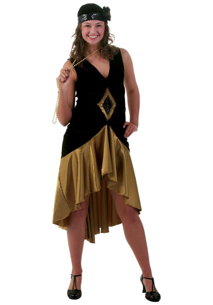 Details about Fashion Flapper Adult Plus Size Costume ...