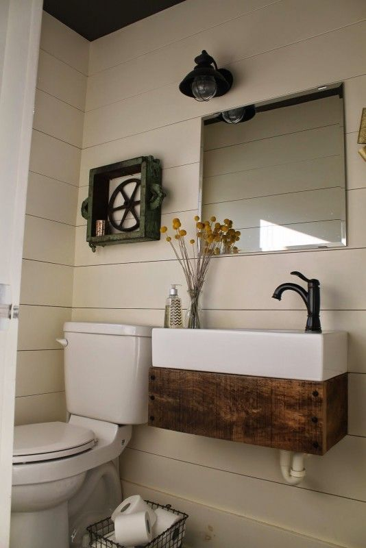 Dress Up A Simple Wall Mount Or Farmhouse Sink With An Easy Rustic