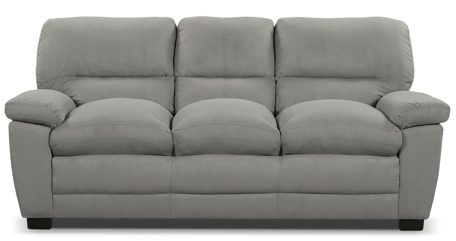 Micro Fabric Sofa Foundry Select Courtney Microsuede Sofa