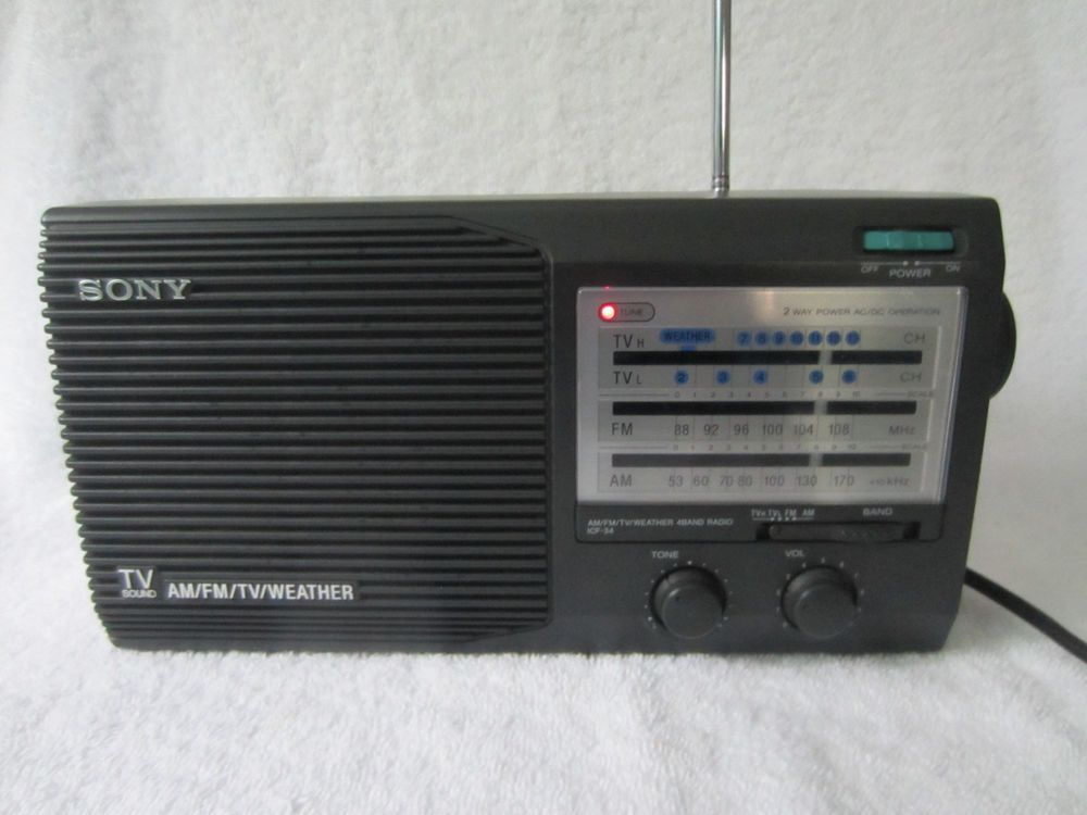 vintage sony icf 34 am fm tv weather portable 4 band radio ac or rh pinterest com Sony Operating Manuals ICD-UX523 Sony Owner's Manual Online