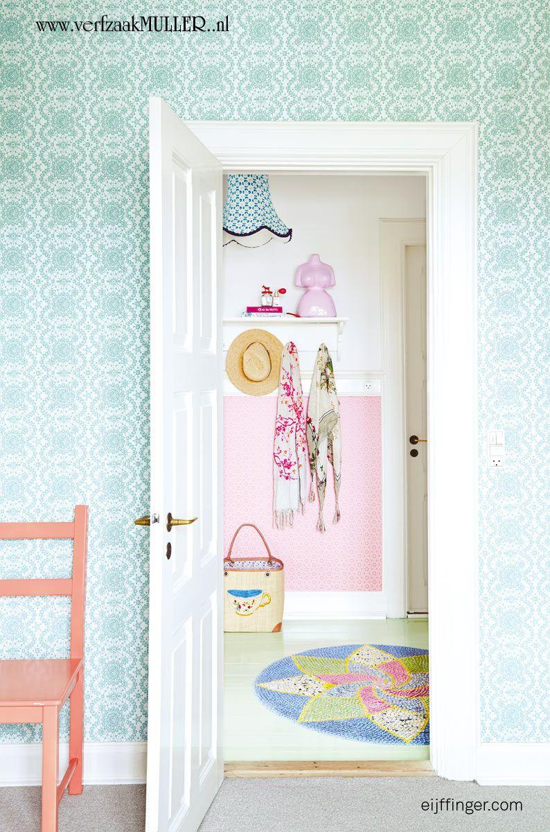 Hallway half wallpaper  Eijffinger  RICE ud Happy Walls  home  Pinterest  Rice Walls