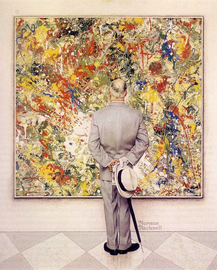 Norman Rockwell Jackson Pollock One Of My Favorite Berkshire