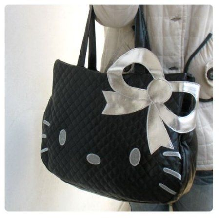 06de91cb3 NEW Hello Kitty Head Shaped Tote Shoulder Bag Black sold by Unique Finds.  Shop more products from Unique Finds on Storenvy, the home of independent  small ...