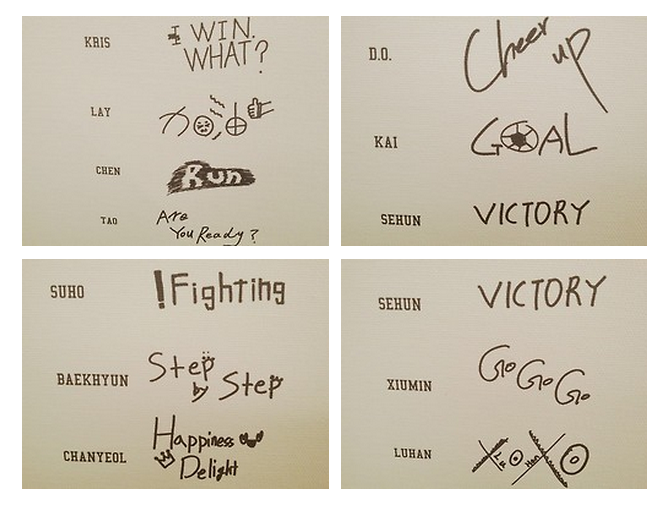 Exo S Handwritten Messages For Stardium Customizable T Shirts I Loved Kris Chanyeol D O And Lay S Handwriting The Best Xd Chanyeol Exo Memes Exo Korean