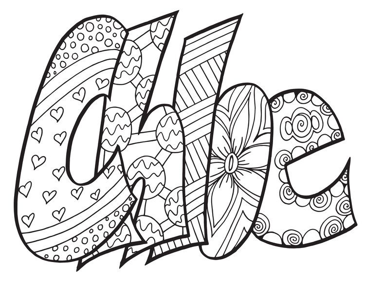 CHLOE - a free coloring page from Stevie doodles SEARCH ...