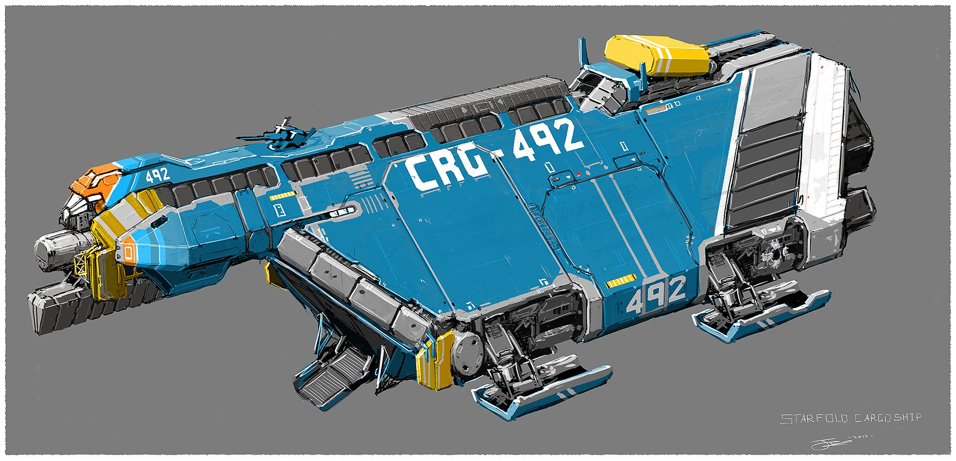 Small Cargo Spaceship By On Deviantart Scifi Starships