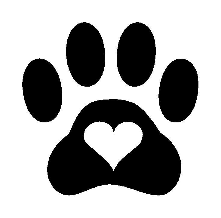 Details About Paw Print Heart Dog Cat Pet Vinyl Decal Sticker