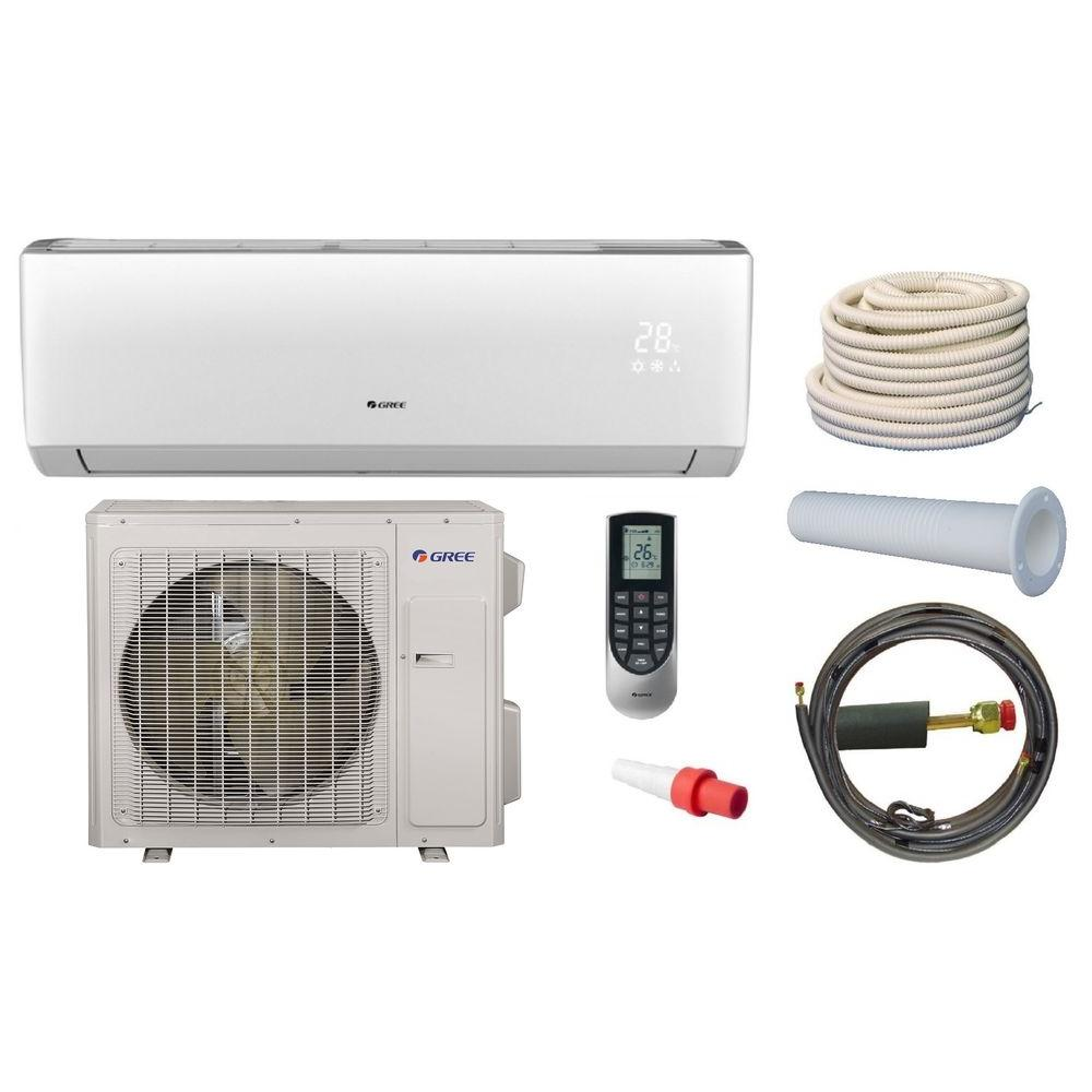 Gree Vireo 33600 Btu Ductless Mini Split Air Conditioner And Heat Pump Kit 230volt Vir36hp230v1ak Heat Pump Heat Pump System Heating Air Conditioning