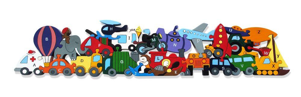 Jigsaw Puzzles For Kids, Wooden Jigsaw Puzzles   Alphabet Jigsaws