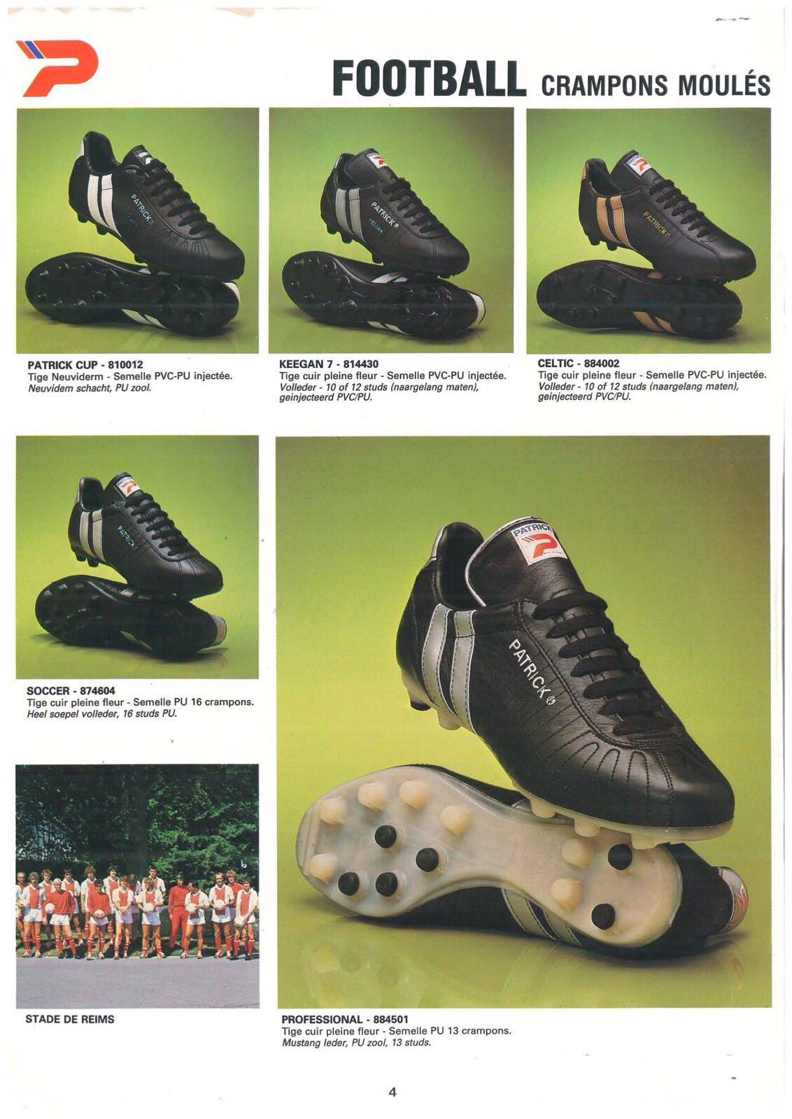 f7b0cb116 1983 Patrick Catalogue Pages Soccer Boots, Soccer Gear, Football Boots,  Soccer Cleats,