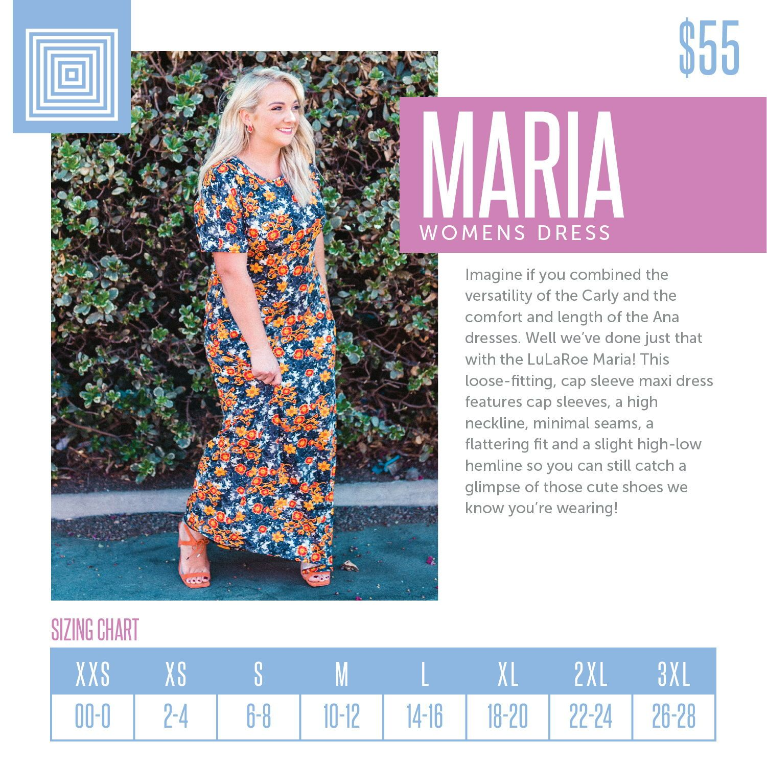 eca5db4a11c84 Women s LuLaRoe Amy Top Size Chart including 2018 updated pricing ...
