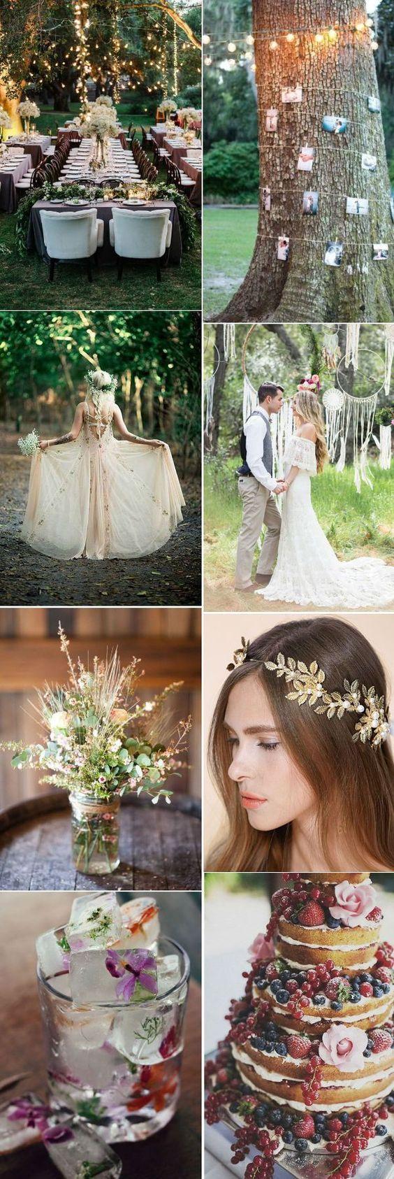 pretty boho wedding ideas for springsummer weddings