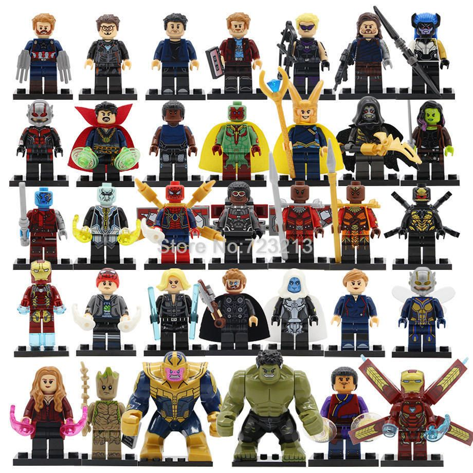 30pcs Avengers Infinity War Action Figure Set Thanos Iron Man Spider For Lego Avengers Infinity War Avengers Marvel Superheroes