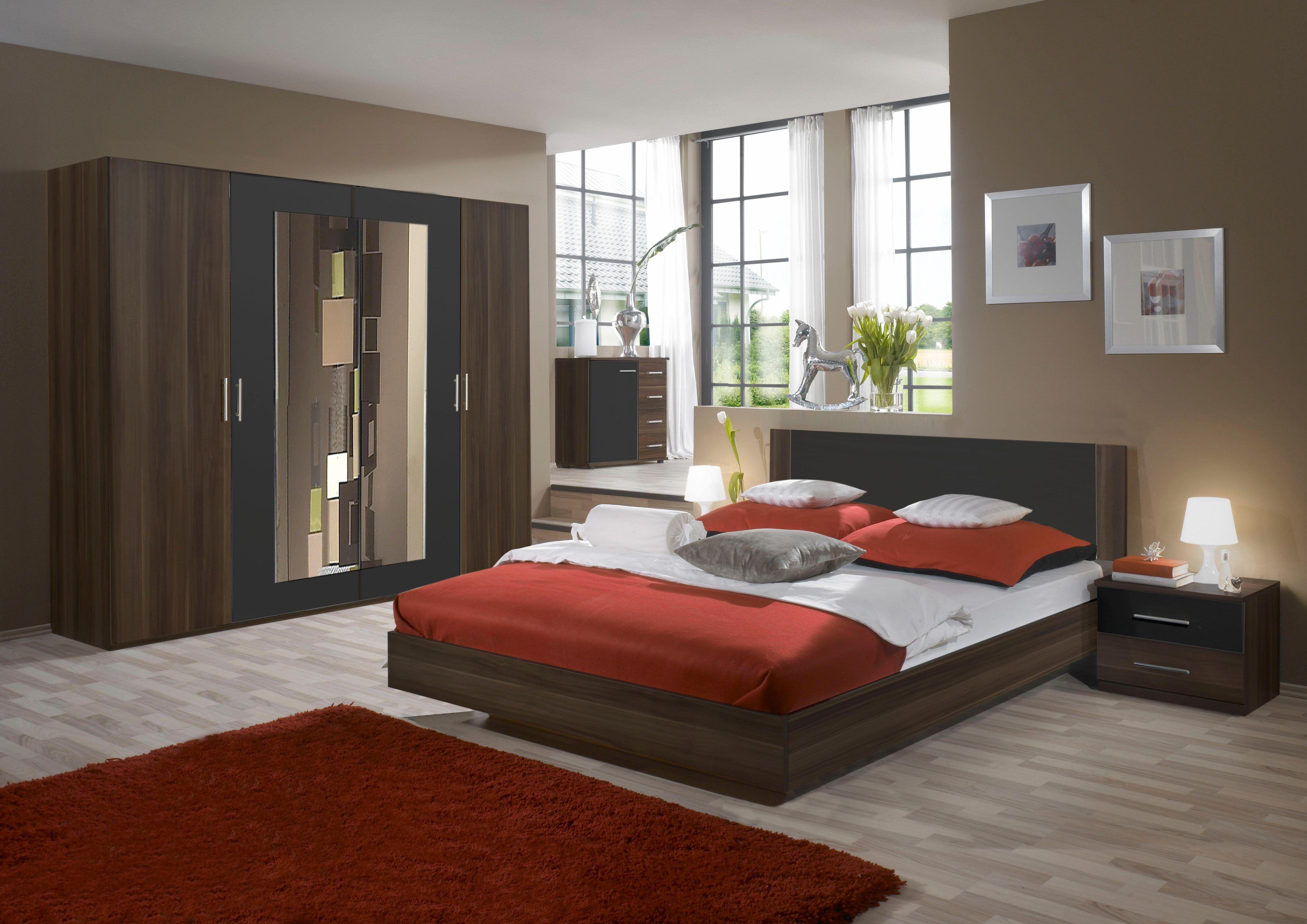 Schlafzimmer Komplettangebote | Schlafzimmer Set Mit Drehturenschrank 4 Tlg Grau Wimex Jetzt