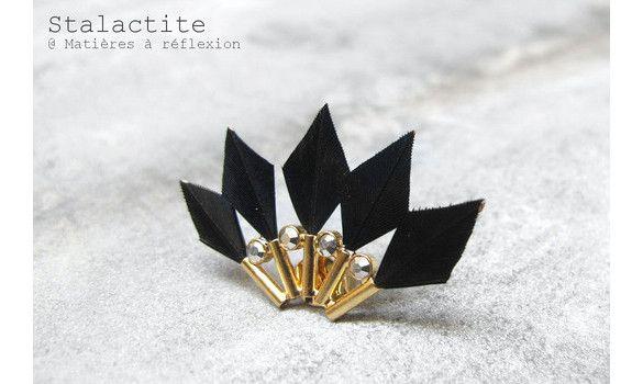 Stalactite boucle plumes BabyParrot noir #stalactite #earring #black