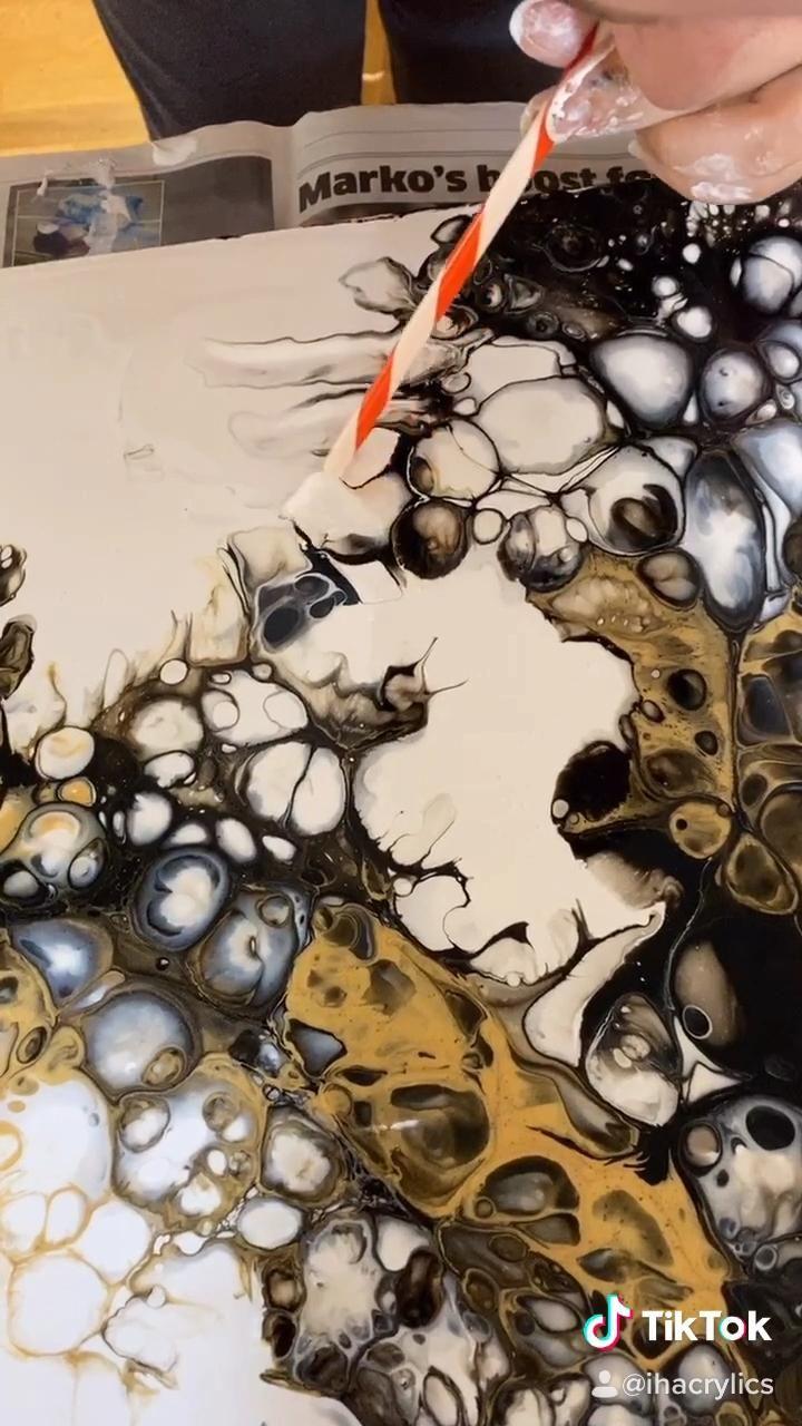 Original Abstract Fluid Art Paintings by IHacrylic