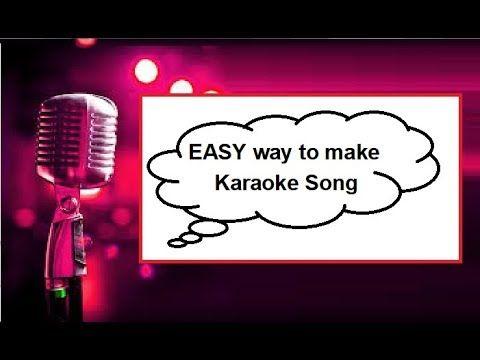 * BEST KARAOKE * How To Make Karaoke Songs (EASY) #bestkaraokemachine