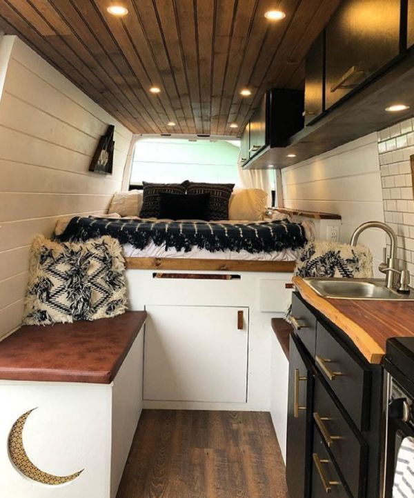Photo of This Converted Sprinter Van is a Surprisingly Livable Tiny House on Wheels