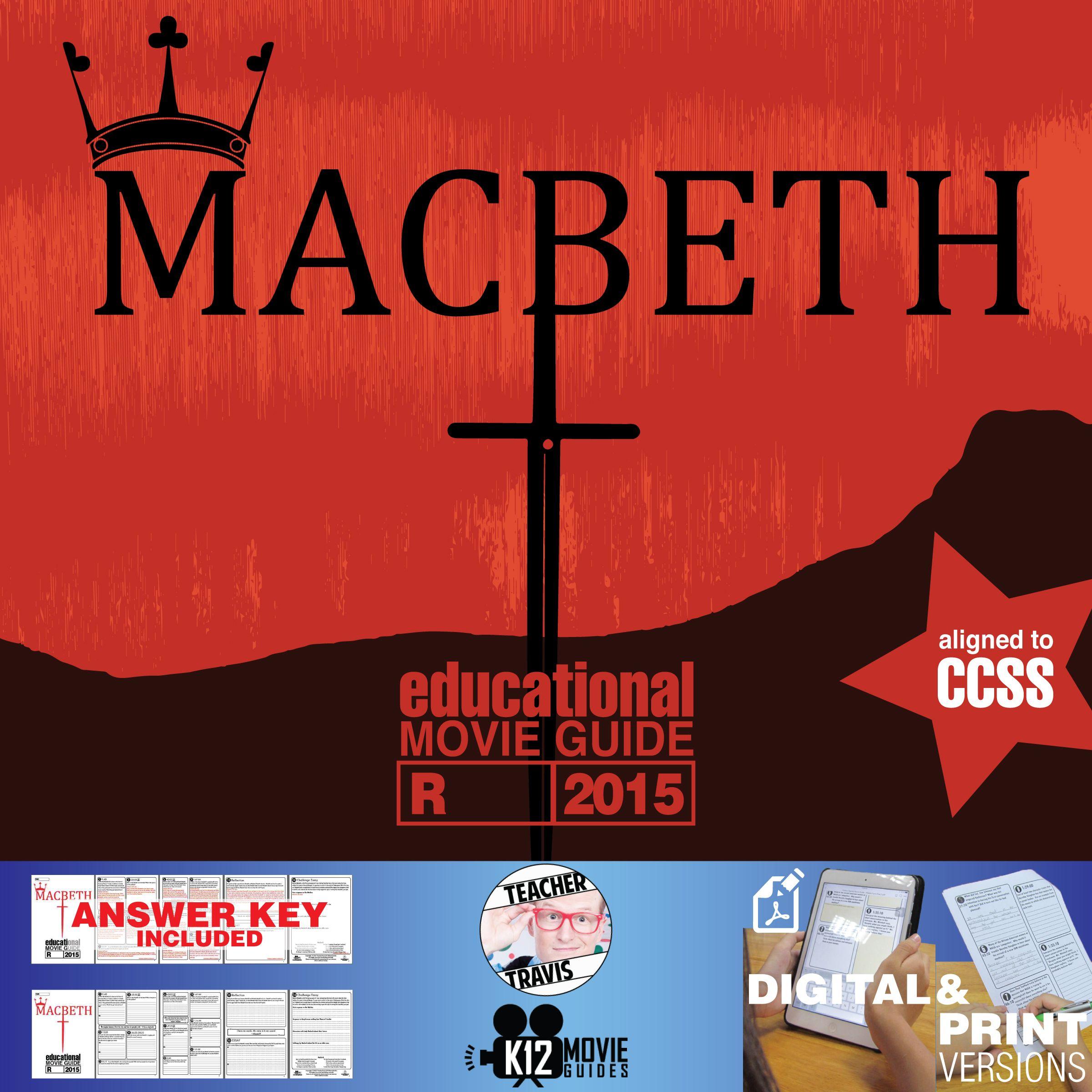 Macbeth Movie Guide Questions Worksheet R