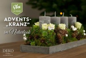 Lieblich DIY Adventskranz Basteln: Diesen Ausgefallenen Adventskranz Mit  Naturmaterial Könnt Ihr Selbst Basteln. Die Schritt