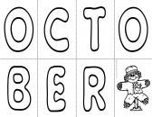 Free October Printable product from TeachingMy3 on TeachersNotebook.com