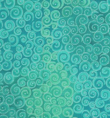 teal spirals  This would be so cool as a fabric.  And then made into a skirt.