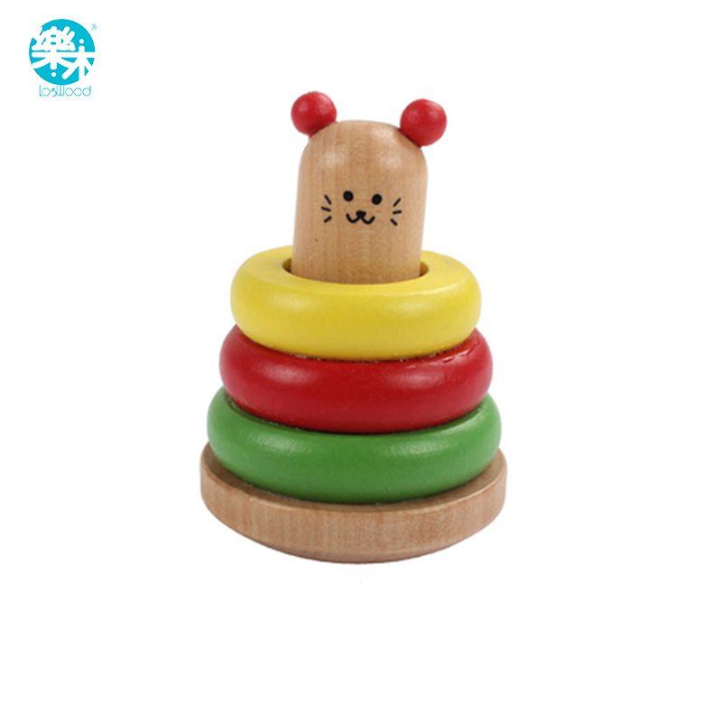Baby-rassel spielzeug musikinstrumente holz handbell toys kid kinder 1-12months bunte musik baby bildung rattle