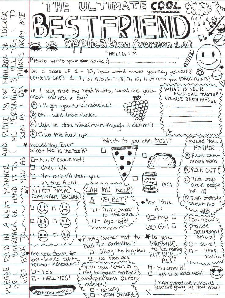 Pin By ʜᴏɴᴇʏ On Journal Stuff Best Friend Application