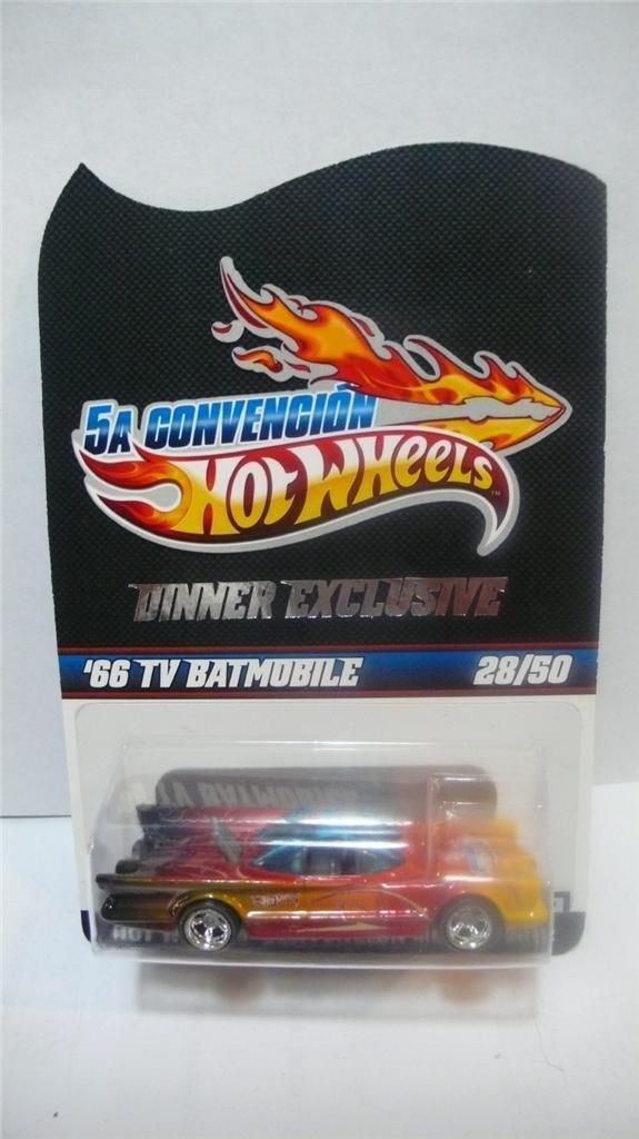 2012 Hot Wheels Mexico 5th Convention '66 TV Batmobile 28/50 Dinner Exclusive