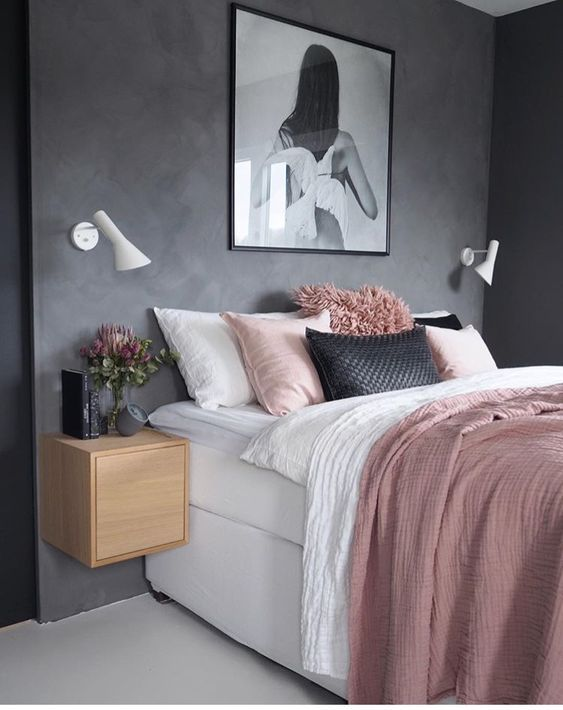 25 Glamorously Pretty Rose Gold Bedroom Ideas On A Budget Idees Chambre Deco Maison Deco Chambre