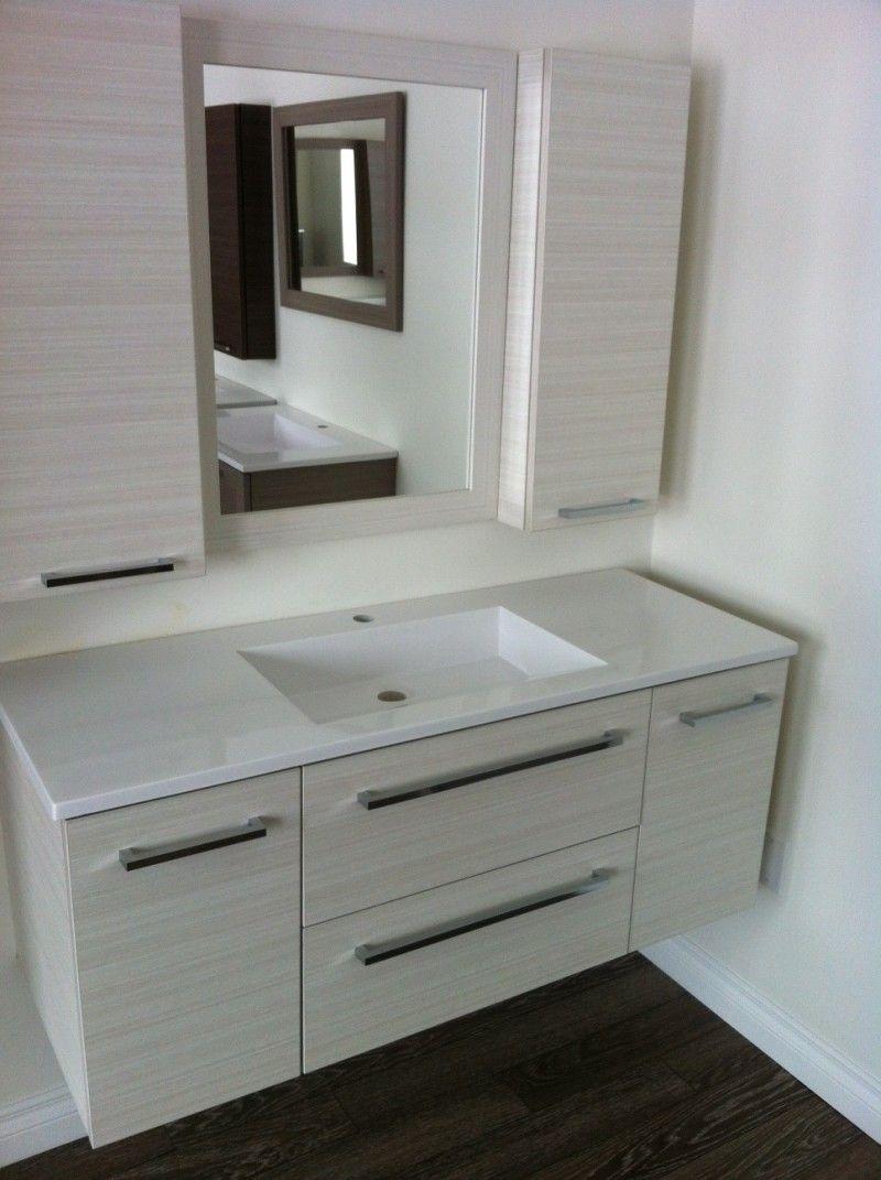 Bathroom Modern And Elegant Floating Vanities Design