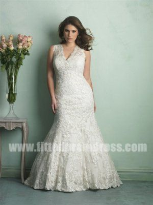 Allure Plus Size Bridal Gowns Style W340 | Weddings | Pinterest ...