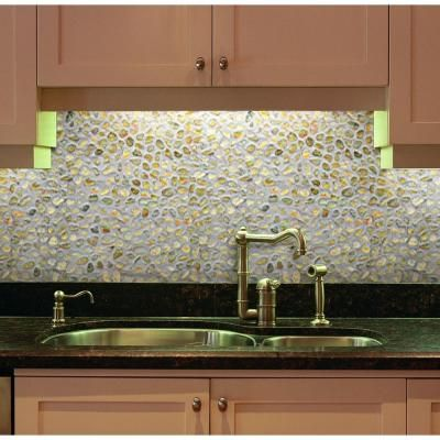 Islander Golden Sapphire 12 In X 12 In Natural Pebble Stone Floor And Wall