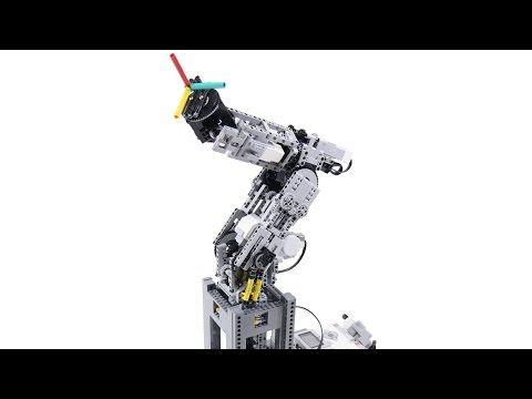 LEGO EV3 6-Axis Robot Arm V760 First Demo - YouTube   Lego ...