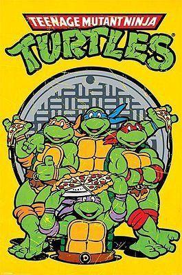 Teenage Mutant Ninja Turtles TMNT Classic Movie Giant Wall Art Poster Print