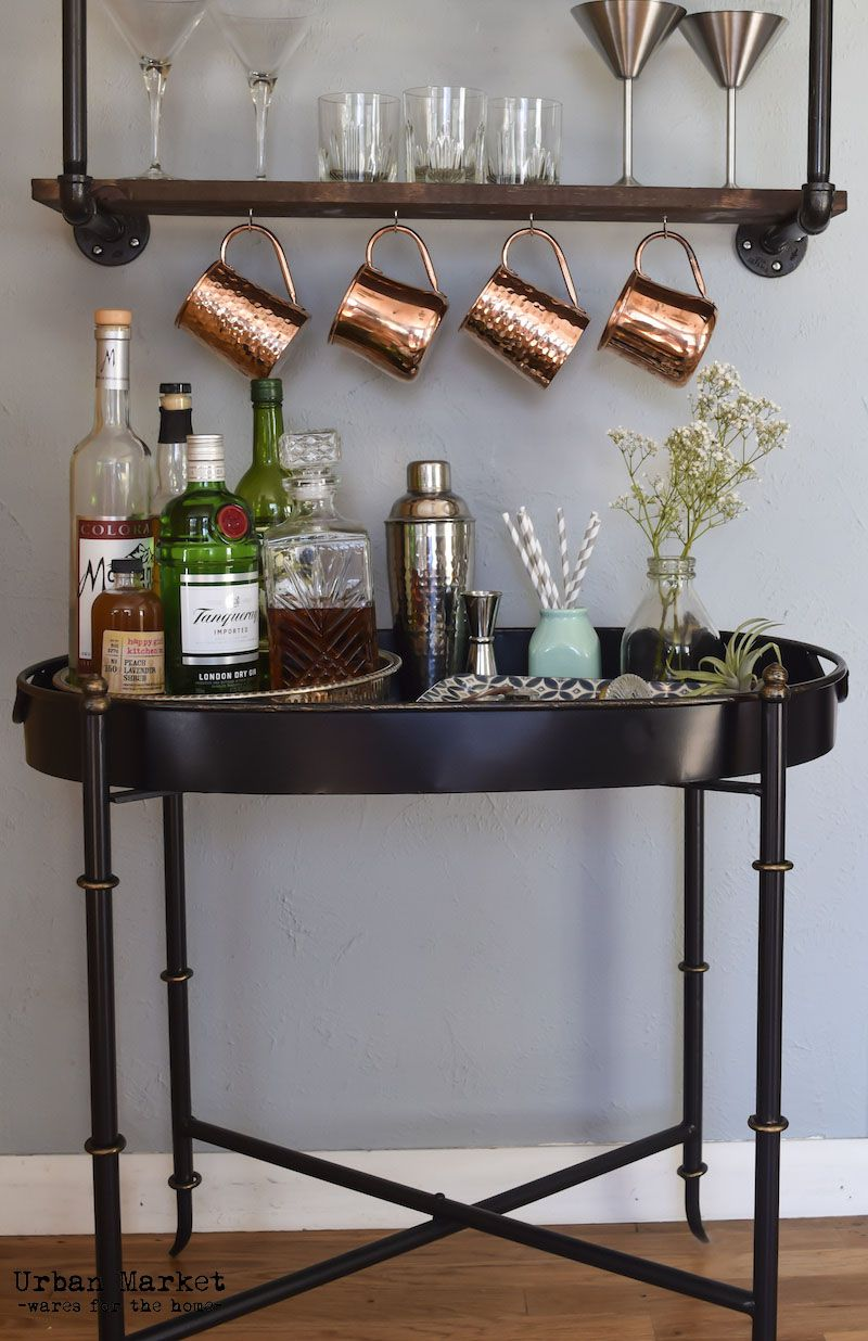Use trays to keep your bar cart organized. | For The Kitchen from ...