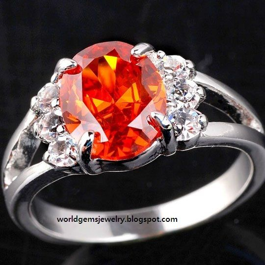 Engagement Rings of World: Garnet Beautiful Engagement Ring 7