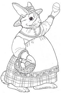 jan brett inkspired musings do the bunny hop easter coloring pagesegg - Jan Brett Easter Coloring Pages