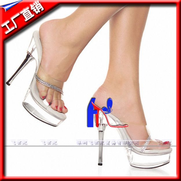 5 Ihch Lady Fashion High Heel Shoes Sexy 14cm Leisure Rhinestone Silver Heels With Sexy Stripper Shoes