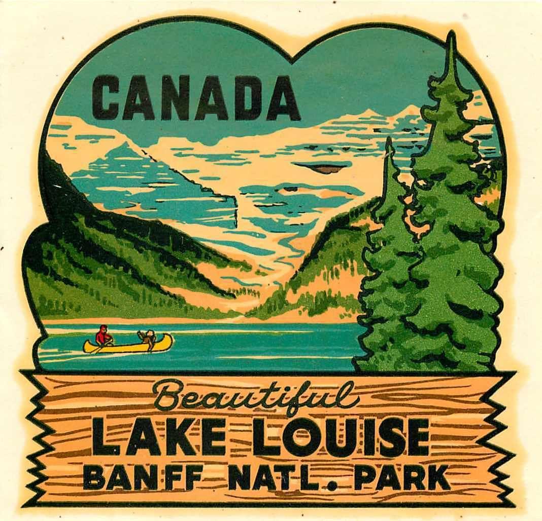 Lake Louise Decal 1955 Lake louise, Beautiful lakes