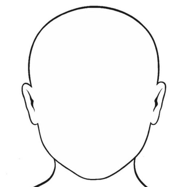 Blank face template u2026 Back To School Pinterest Face template - raindrop template
