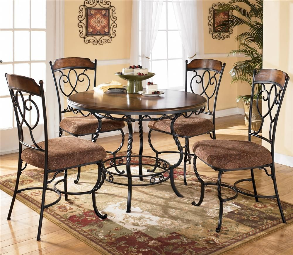 normandy round table with 4 side chairsashley furniture
