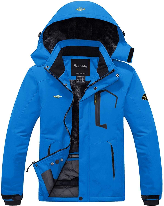 Mens Mountain Waterproof Ski Jacket Windproof Rain Jacket