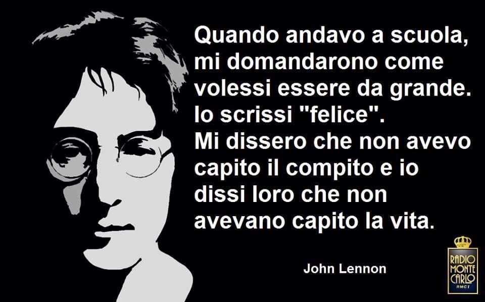 Frasi Sulla Vita John Lennon.Pin Su Quotes