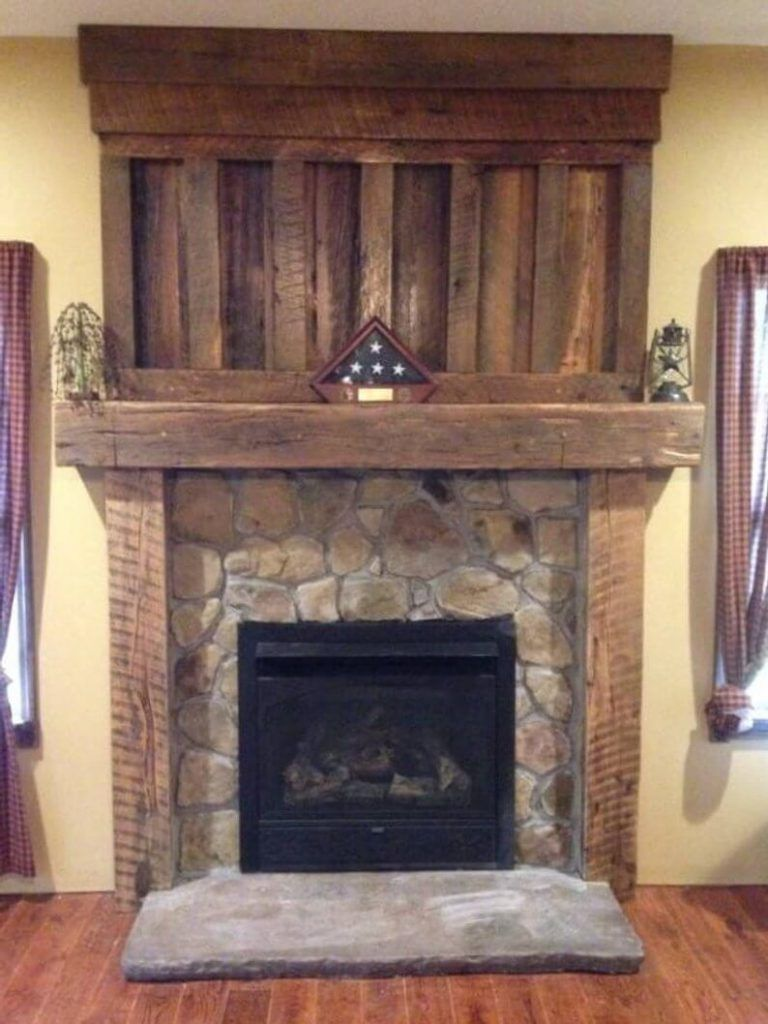 Another Fireplace Mantel Decorating Tip Is To Hang Numerous Sizes And Shapes Of Mirrors Instead Of Just Wood Fireplace Mantel Rustic Fireplaces Wood Fireplace