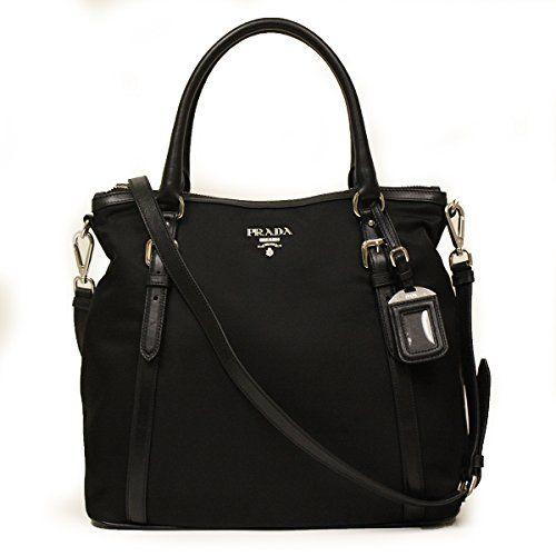 449f79cb4c7b Prada BR5116 Nero Sacca 2 Manici Tessuto + Soft Calf Leather Black Nylon  and Leather Tote Bag  Handbags  Amazon.com