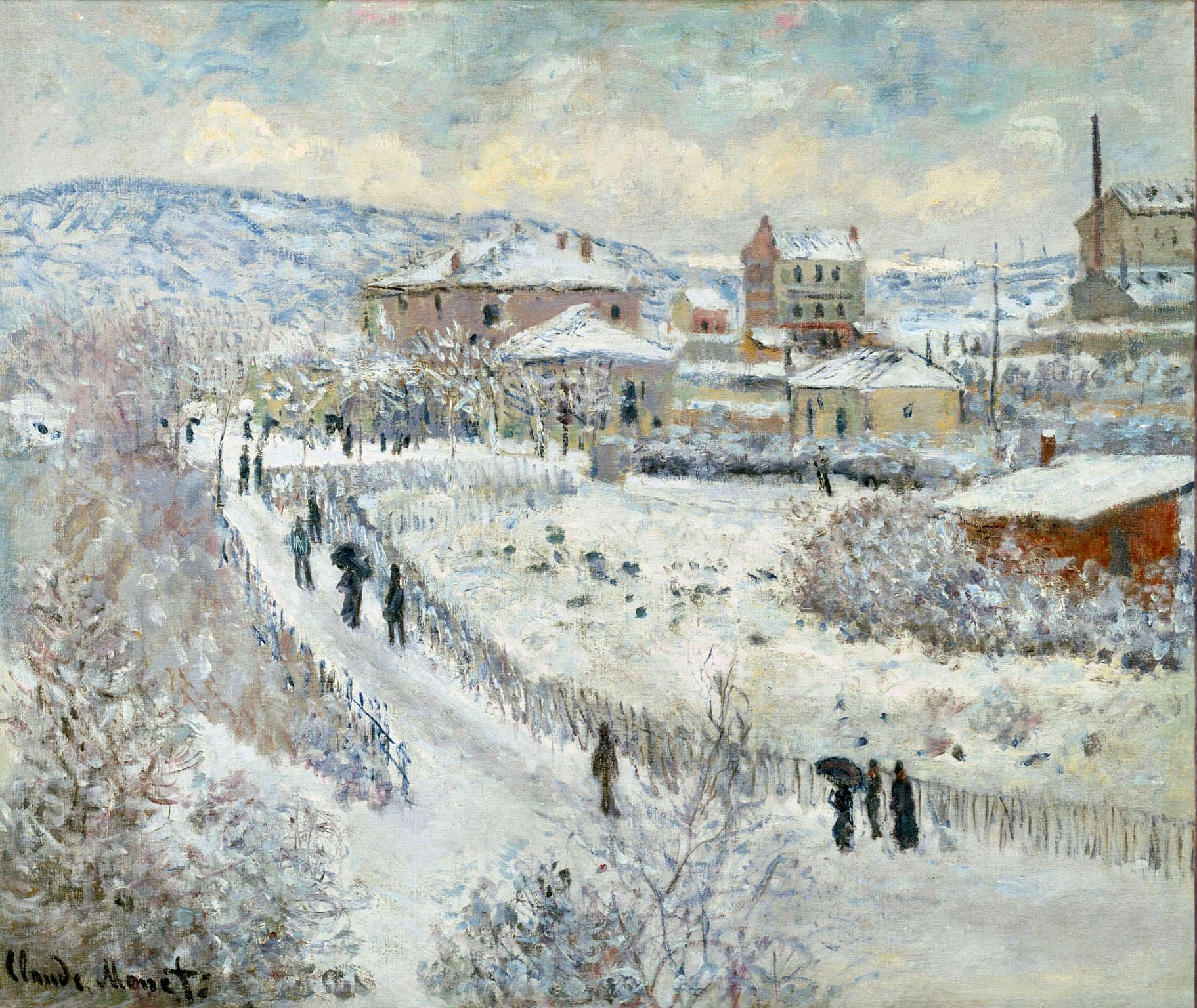 View of Argenteuil in the Snow by @claude_monet #impressionism