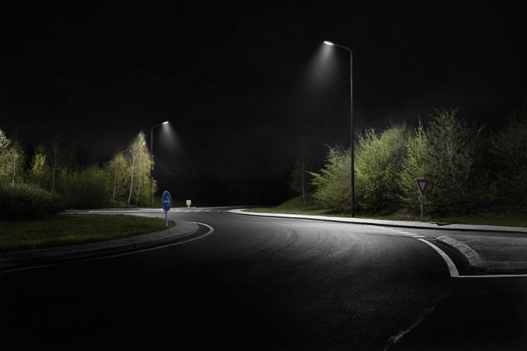 What Does The Image Of A Deserted Street In The Dead Of Night